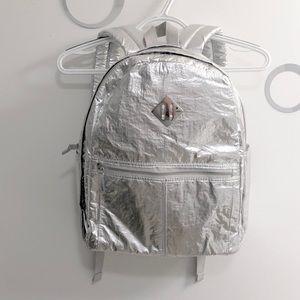 NWT!! ~ SUPER Silver chrome metallic backpack